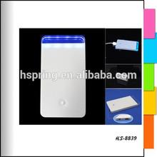 2400mah new crystal portable power bank mobile charger