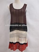 spring summer fashionable sleeveless women's dress