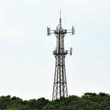 Long lifetime high quality Microwave telecommunication steel monopole tower