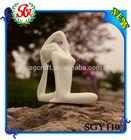 SGY110 White Color Home Decor Yoga Figurine Arts and Craft