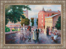 European humanistic amorous feelings romantic handmade framed oil painting
