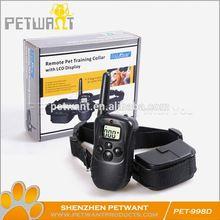 Attractive fashion lcd 100lv shock&vibra remote dog training collarraining collar