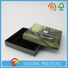 Luxury black eco high grade chocolate packaging box