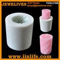 2014 popular artesanía moldes para velas, 3d hechos a mano grande del silicón de la vela