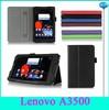 Best Price Leather Flip Case For Lenovo A3500 With Handstrap&Card Holder
