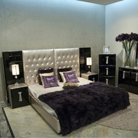 JB17 series-Grace & Best selling bedroom furniture set, oxhide leather luxury furniture from china supplier-JL&C Furniture