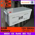 Agm VRLA bateria AGM bateria de ciclo profundo bateria AGM 12 v 200ah