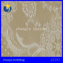 Knitting dyed bangkok lace fabric