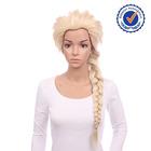 100 kanekalon fiber long blonde best cosplay wig for frozen elsa