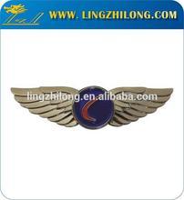 Custom Pilot Lapel Pin Badge Silvel Wing Badges