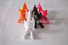 Fashion plastic hotasle cartoon cat pen for kids, plastic cat shape ball pen