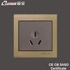 new model LK5010 champagne 16A 3pin home appliance socket