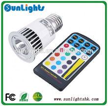 e27 5w rgb led Spotlights dmx controled led downlights