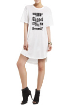 New Arrival Hottest Printed Girl's New Design Fashion Summer Casual Traveling Lovely Pretty Women Famous Printed T-shirt Dress