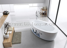creative idea vital individuation printing in acrylic bathtub with shower mixer for our house