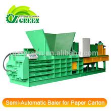 Semi-Automatic Close Door Manual Tie Horizontal Baler for Palm Silk Paper Carton