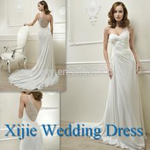 Sweetheart Beading One Shoulder Chiffon Wedding Dress 2014 New --- HK-106