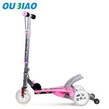 3 flashing wheel Aluminium mini micro scooter kick scooter by china manufacturer(OEM/ODM)