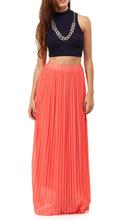 Ouvert sexy - girl - full - photo 100% polyester dernières fashion designer mesdames jupe longue