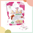 ABC milk candy with sweet strawberry center