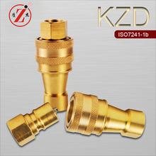 KZD brass medium-pressure chemical equipment brass nipple coupling