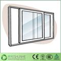 Horizontal plástico janelas de correr janelas de plástico janela de vidro Interior personalizado