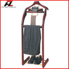 Hotel Wood Clothes Valet Stand wtih Shoes Bar / Classical Men Suit Valet Stand