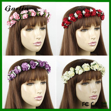 HALF FLOWER ROSE RIBBON FLOWER CROWN HEADBAND