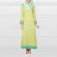 China Direct Factory Wholesale Elegant Ladies Long Evening Dress Women Fashion Dress Muslimah Jubah