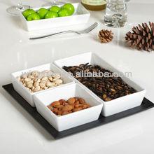 4 pieces square ceramic dish