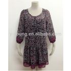 2014 beautiful pattern teenage girls floral printed casual dress designs
