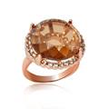ronda de la moda de cristal y diamantes de imitación austriaco de aleación anillo del dedo r1322r1400