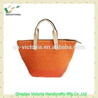 Ladies' Fashion Paperstraw woven Handbag