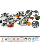 23piece Stainless Steel CookWare Set with Wide Rolled Edge Sc578