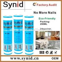 Free nail construction adhesive silicone sealant