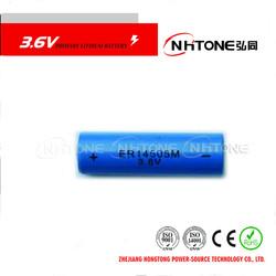 3.6V Nominal Voltage AA Li-SOCI2 Batteries For Measuring Equipment