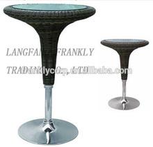 Modern rattan bar table for sale/wholesale wicker bar table