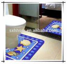 Soft fashion popular colorful washable anti-slip bath mats