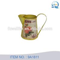 Decorative mini antique metal pitchers for flower
