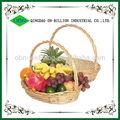 Barato hecho a mano óvalo regalos mimbre cesta frutas