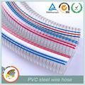 plástico 8 polegadas espiral flexível transparente de pvc reforçado mangueira de aço fio