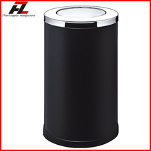 Floor metal refuse bin with up and down cover / Custom metal refuse bin for public