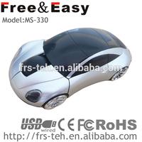 Fashion streamlined design mini car shaped scroll computer mouse