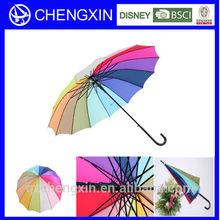 china manufacturer rainbow straight umbrella