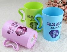 pretty ear simple plastic drinking cup cp012