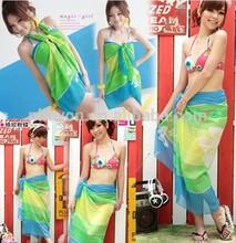 <OEM Service> 2014 New Season Swimwear , wholesale Summer lady polyester chiffon sexy beach sarong pareo