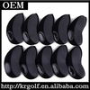 OEM 10pcs/set Black &Gray Neoprene Golf Iron Club Head covers Wholesale Golf Iron Headover case