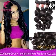 Alibaba express wholesale human hair extensions loose wave top grade 7a high quality virgin brazilian remy hair weaving