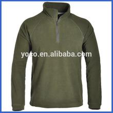 Mens plain fleece sweatshirts with collar