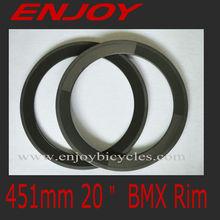 hot sale 25mm width carbon 451mm bmx clincher rim, 20 inch bike rim,depth 50mm clincher racing wheels